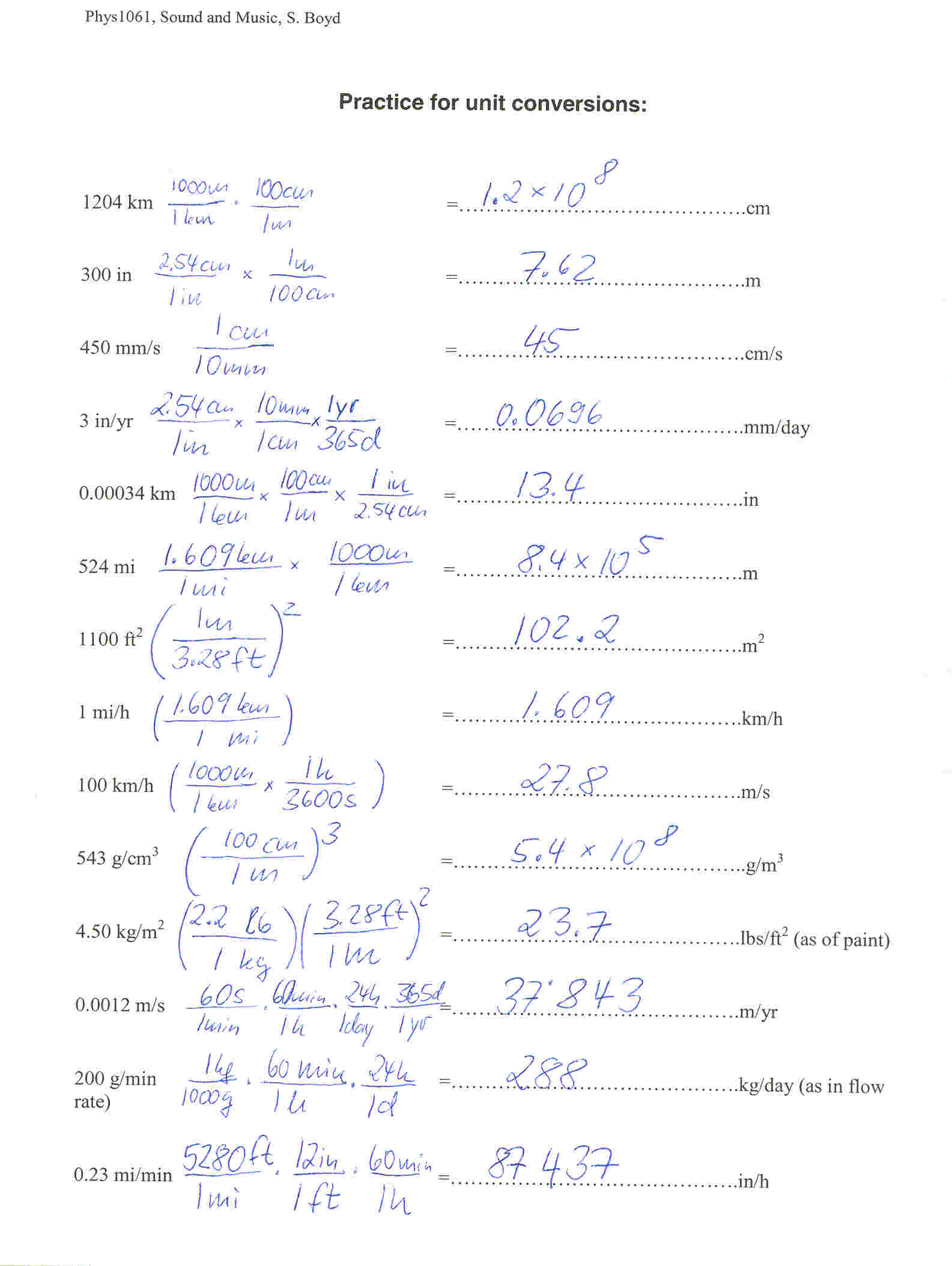 unit conversions worksheet answers Madratco – Unit Conversions Worksheet